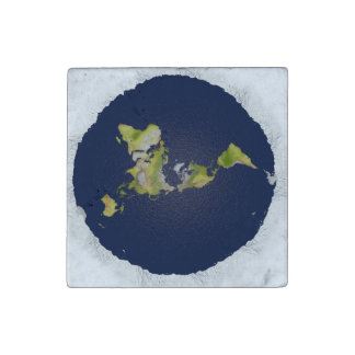 Flat Earth Marble Magnet
