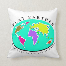 Flat Earth More To Discover Throw Pillow