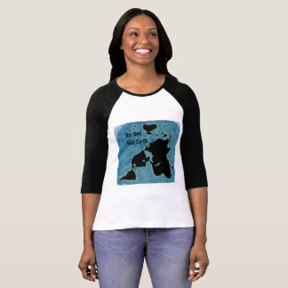 Flat Earth New Map Jersey Tee