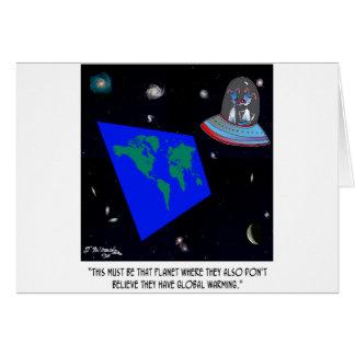 Flat Earth & No Global Warming Card