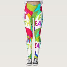 Flat Earth Sporty Colors Leggings