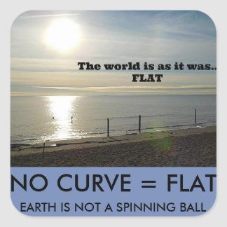 FLAT EARTH SQUARE STICKER