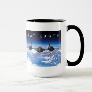 Flat Earth SR71 -- Mug Two Tone