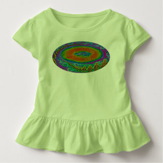 Flat Earth toddler t shirt original painting