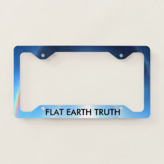 FLAT EARTH TRUTH LICENSE PLATE FRAME