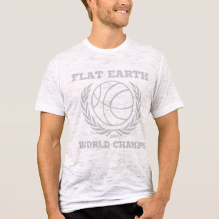 Flat Earth World Champs - VINTAGE STYLE WHITE GRAY T-Shirt