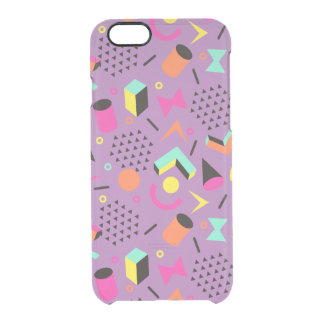 Flat Geometric Squiggly Memphis bold pattern 1980s Clear iPhone 6/6S Case