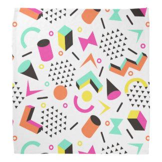 Flat Geometric Squiggly Memphis bold pattern 1980s Kerchiefs