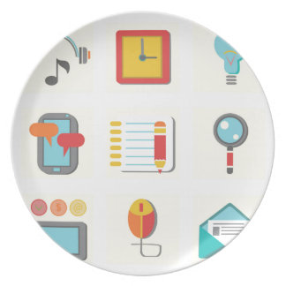 flat icons plate
