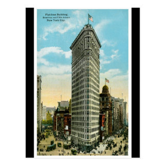 Flat Iron Building. Broadway and Fifth Ave. NYC Postcard