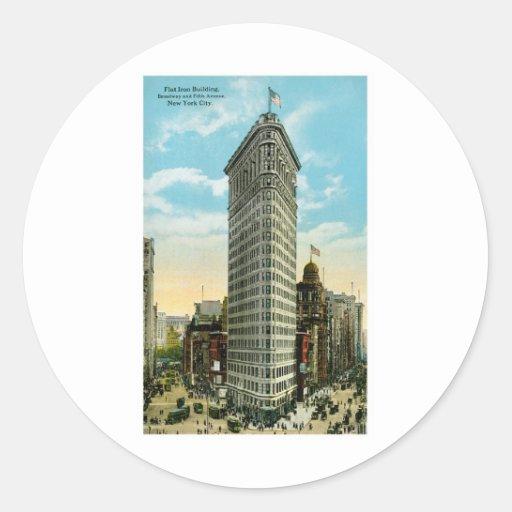 Flat Iron Building, NYC Round Sticker