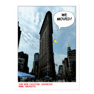 Flat Iron moving announcement Postcard