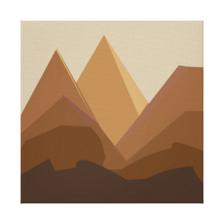 flat landscape mountains brown canvas print