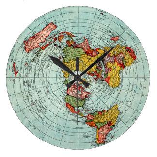 Flat Map Wall Clock
