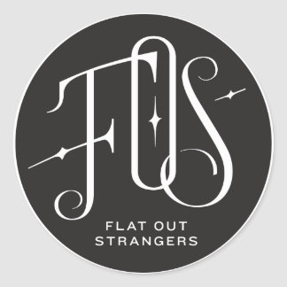 Flat Out Strangers Roundel Classic Round Sticker