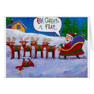 Flat Reindeer Card