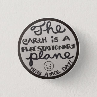 Flat Stationary plane badge 1 Inch Round Button