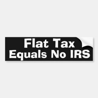 Flat Tax Bumper Sticker