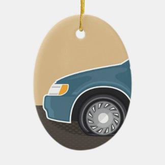 Flat tire Color Vector Ceramic Ornament