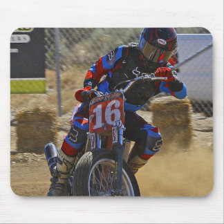 Flat Track Motorcycle Mouse Pad