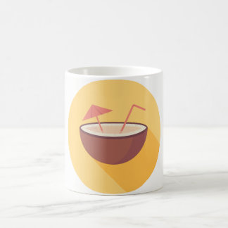 Flat Vector Coconut Coffee Mug