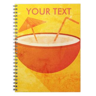 Flat Vector Coconut Spiral Notebook