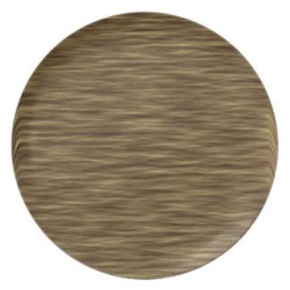 Flat wood nice cute Skin Case Dinner Plates