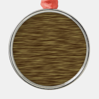 Flat wood nice cute Skin Case Silver-Colored Round Ornament
