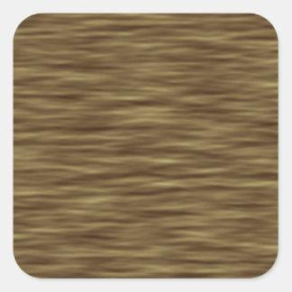 Flat wood nice cute Skin Case Square Sticker