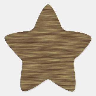Flat wood nice cute Skin Case Star Sticker
