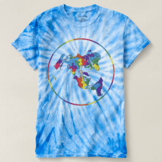 #FlatEarth - Multi-Colored Flat Earth Map T-shirt