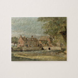 Flatford Mill (oil on panel) Jigsaw Puzzle