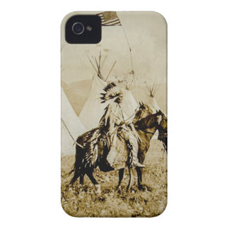 Flathead Indians Vintage Native American Warriors Case-Mate iPhone 4 Cases