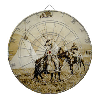 Flathead Indians Vintage Native American Warriors Dartboards