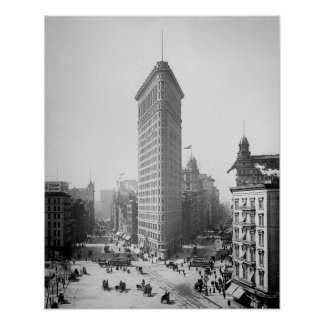 Flatiron Building, 1905. Vintage New York Photo Poster