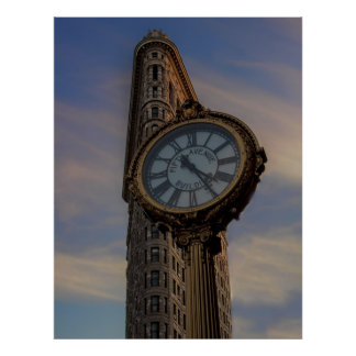Flatiron Building in New York City Poster