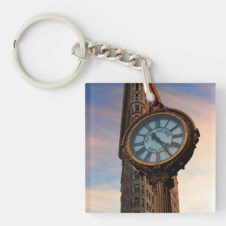 Flatiron Building Photo in NYC Single-Sided Square Acrylic Keychain