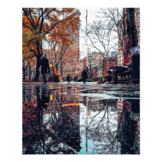 Flatiron Building Reflection Photo Print