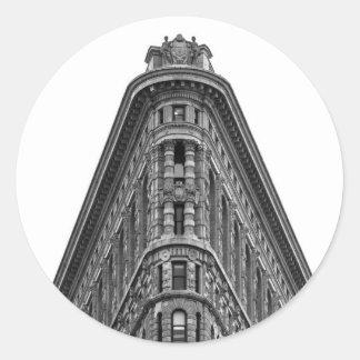 Flatiron Building Round Sticker