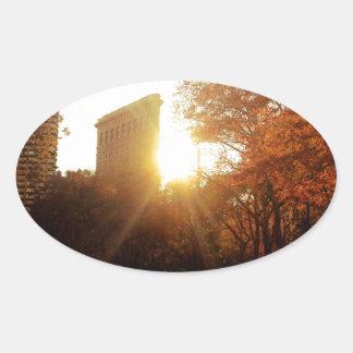 Flatiron Building Sunset in New York City Stickers