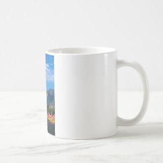 Flatirons and Flowers, Boulder Colorado Coffee Mug