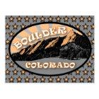 Flatirons, Chautauqua Park, Boulder Colorado Postcard