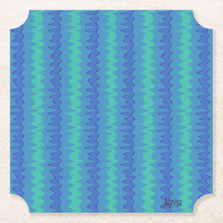 Flatline Blues Paper Coaster