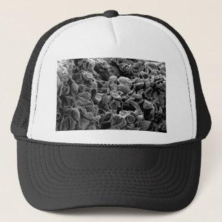 flatten dots texture trucker hat