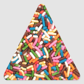 Flaunt your Sprinkles ! Triangle Sticker