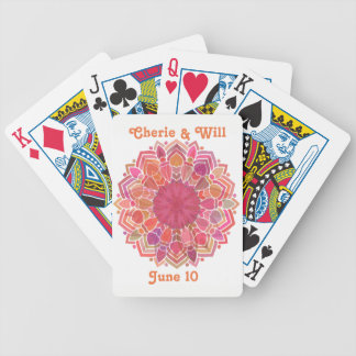 Flavor of India Commemorative Rose Mandala Bicycle Playing Cards