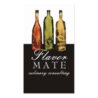 flavored vinegars bottles cooking culinary busi... business card template