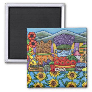 Flavours of Provence Magnet by Lisa Lorenz