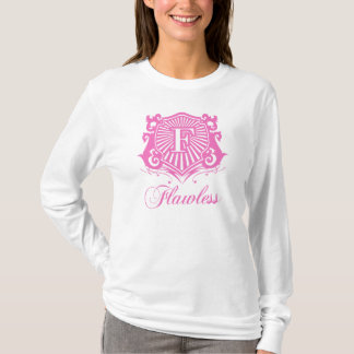 FLAWLESS LADIES PINK AND WHITE HOODIE