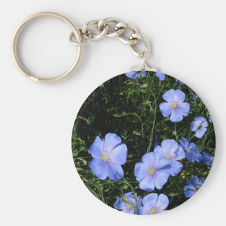 Flax in Bloom Basic Round Button Keychain